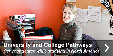 Get your degree while studying in North America