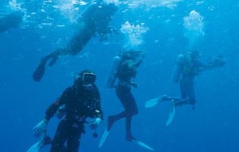 Scuba diving package for advanced divers